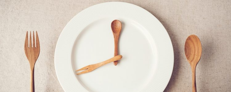 Plate with wooden fork and spoon
